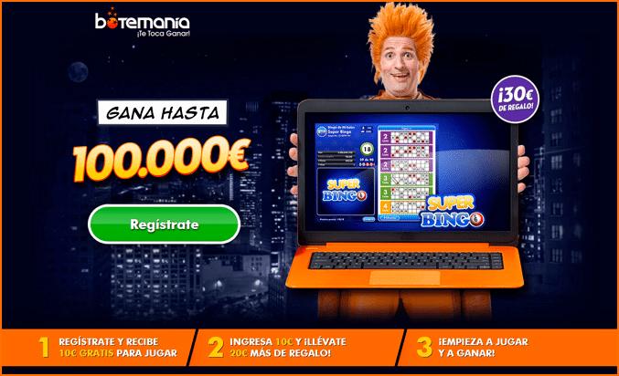 Botemanía Casino Opinión 2017 - Bono del 200% hasta 200€