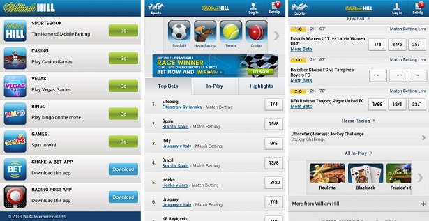 App de William Hill en Android