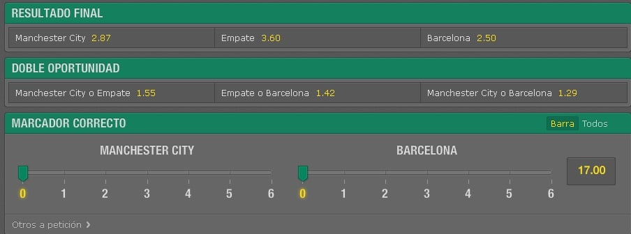 Apuesta simple en bet365