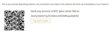 Oshi pago Bitcoin
