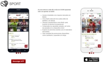 Betclic app que se ejecuta en un teléfono, tableta, computadora portátil y computadora de escritorio