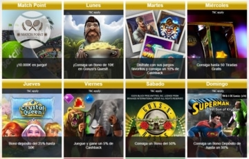 Betclic vista de promociones como se ve en la interfaz del casino