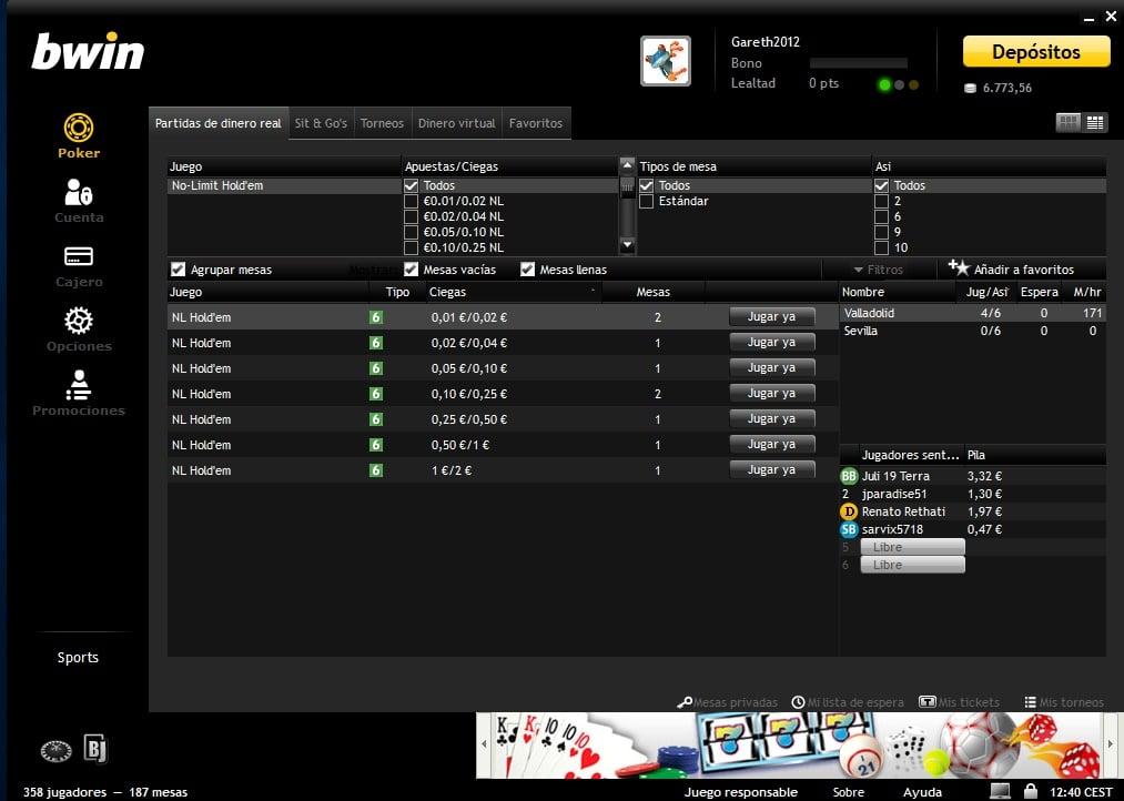 bwin Poker bono póker