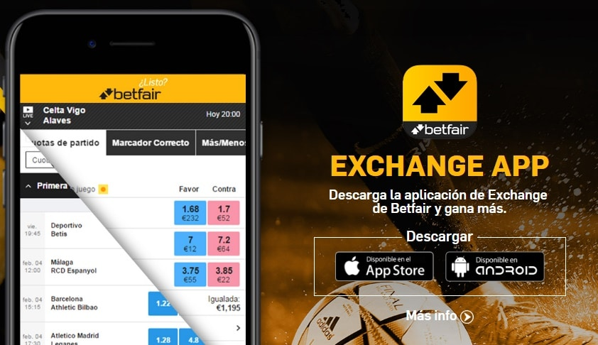 Betfair Exchange móvil
