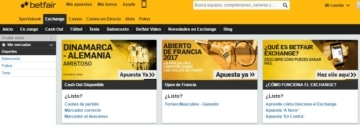Betfair Exchange web