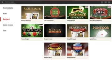 Sportium Casino Blackjack