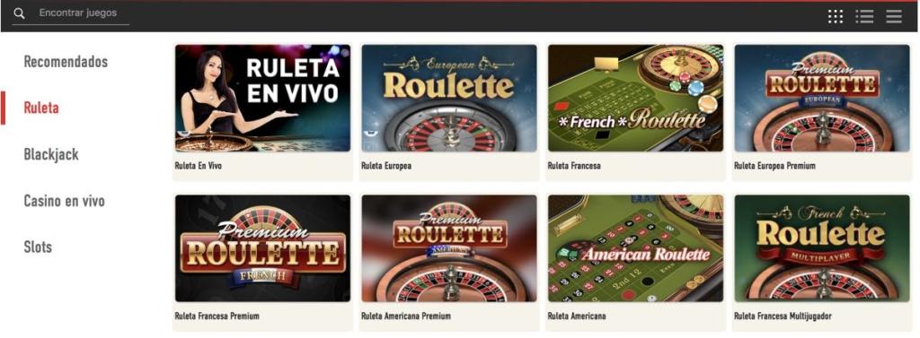 Sportium Casino Ruleta