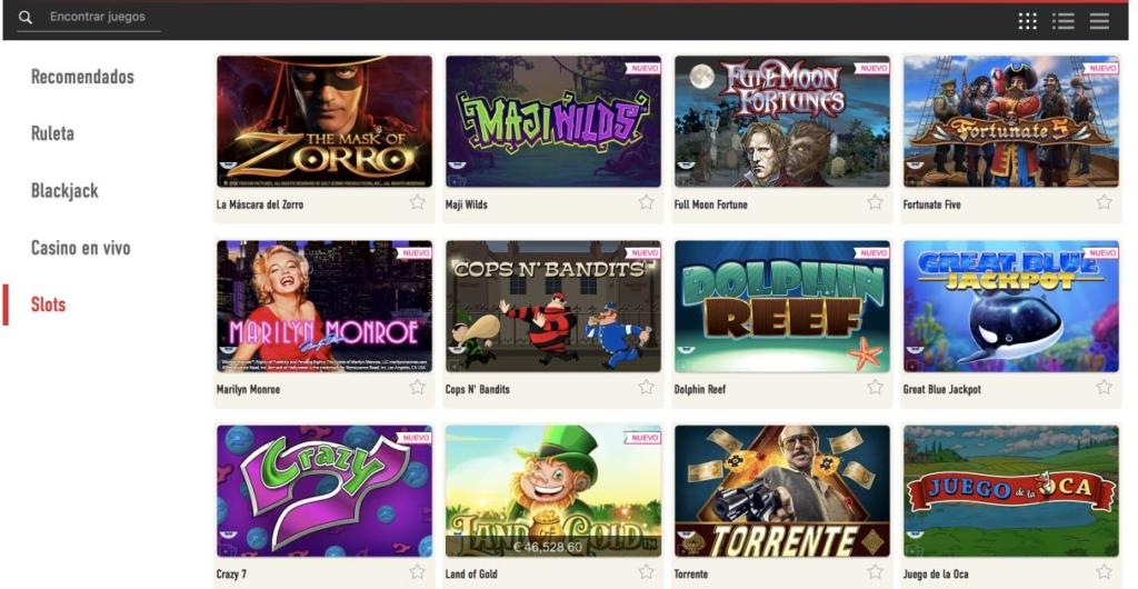 Sportium Casino slots