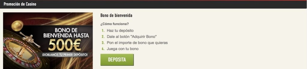 Sportium casino bono