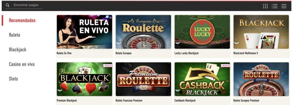 Sportium casino recomendados
