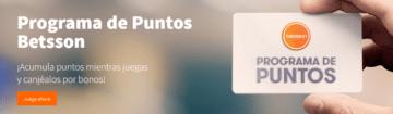 betsson españa banner programa de puntos