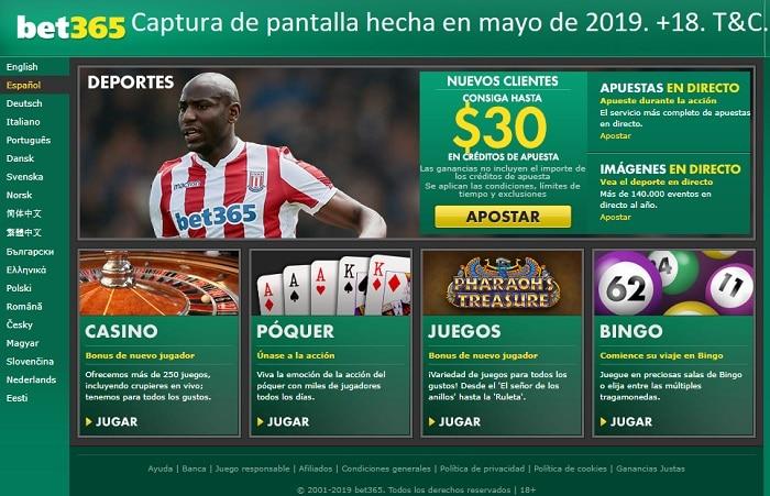 Apuestas en Chile bet365
