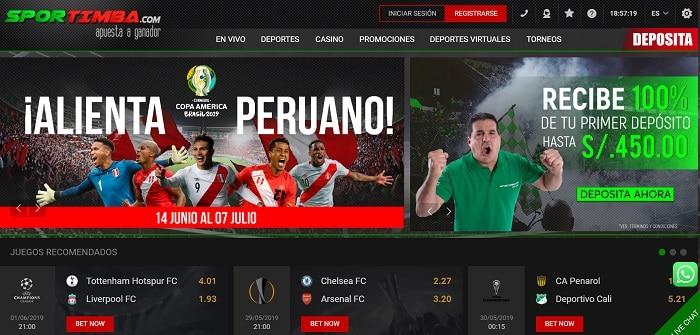 Apuestas en Perú Sportimba