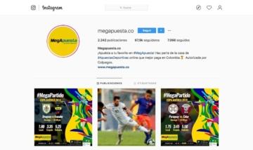 Mega apuestas redes sociales Instagram