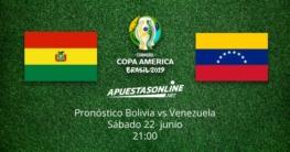 Pronóstico Bolivia Venezuela Copa América 22-06-2019