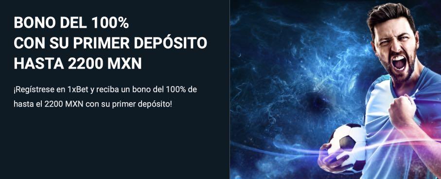 1XBET bono bienvenida MXN