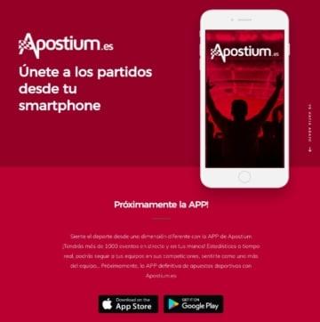 Apostium app móvil de apuestas