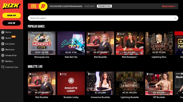 Casino online Rizk