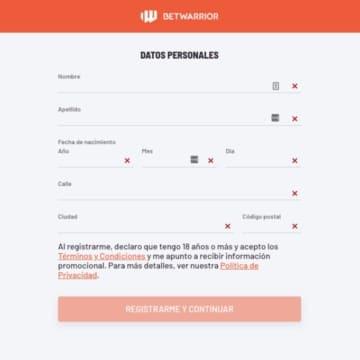 Apuestas-BetWarrior-Registro