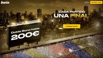 bwin doble bono hasta 200 euros deportes