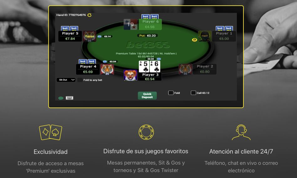 sala de poker bet355