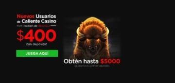 Caliente nuevos usuarios reciben 400 MXN sin depósito