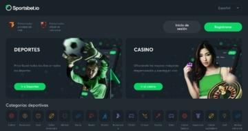 Sportsbet.io página principal deportes casino