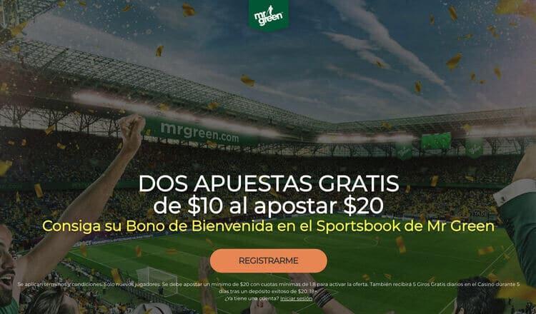 Bono de bienvenida Mr Green Latinoamérica