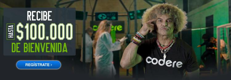 codere Colombia bono apuestas deportivas el Pibe Valderrama