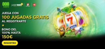 Nuevo bono de bienvenida en 888casino 100 jugadas gratis