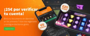 25€ Gratis por Verificar la Cuenta en betsson