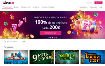 Wanabet Casino Bono Bienvenida de Slots