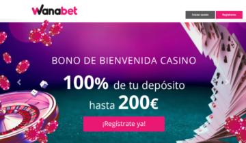 Bono de Bienvenida Casino de Wanabet
