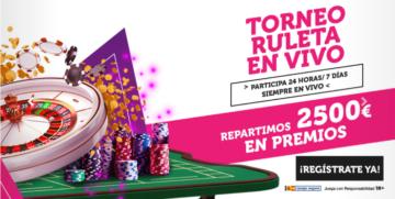 Premios del Torneo Ruleta en Vivo de Wanabet
