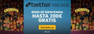 Bono de Bienvenida betfair Arcade
