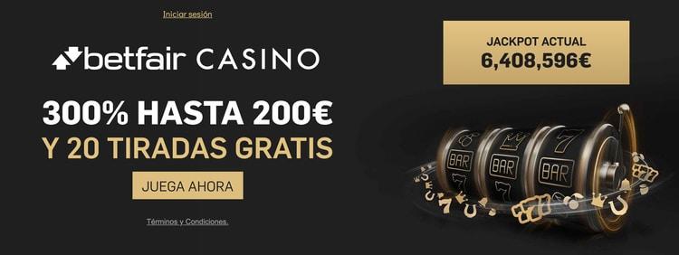 betfair Casino Bono de Bienvenida