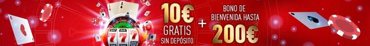 Bono de bienvenida para casino de Sportium