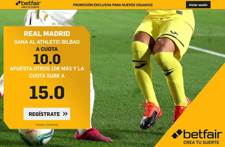 Real Madrid gana a Athletic Club a cuota 15.0