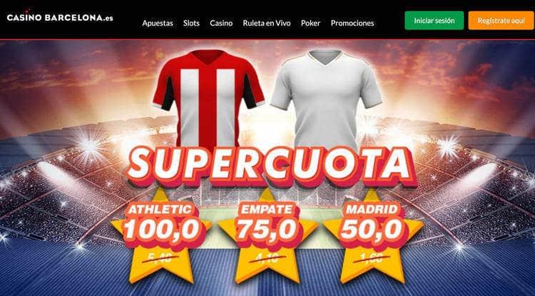 SuperCuota CasinoBarcelona.es Athletic vs Real Madrid