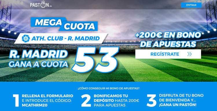 Real Madrid gana a Athletic a cuota 53.0