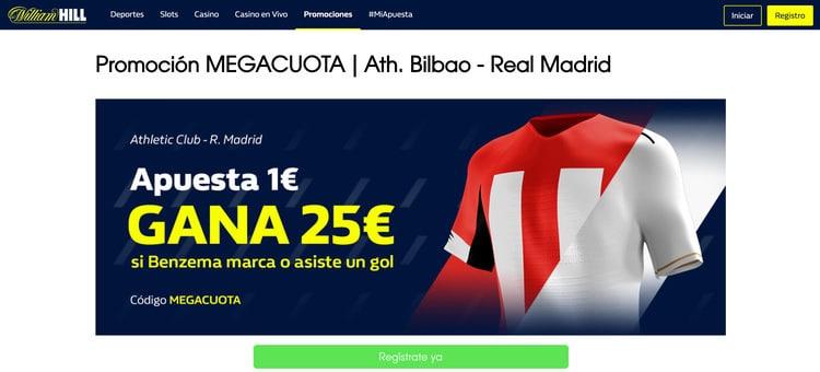 Marca Benzema o asiste en el Athletic vs Real Madrid