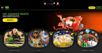 100 jugadas gratis sin depósito para 888casino