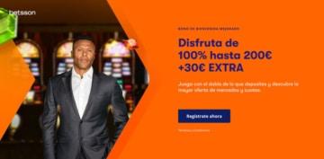 Bono de Bienvenida Casino betsson