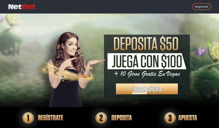Bono de Bienvenida para el Casino LATAM de NetBet