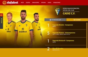 Cádiz CF equipo patrocinado por la casa de apuestas Dafabet