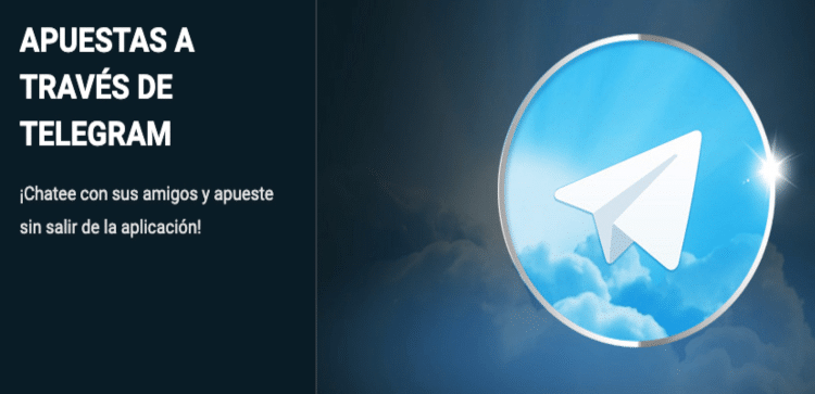 En 1XBEt puedes hacer apuestas por Telegram