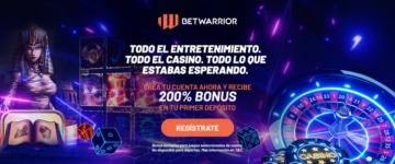 Betwarrior bonus 200% depósito casino