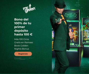 100% primer depósito bono casino Mr Green