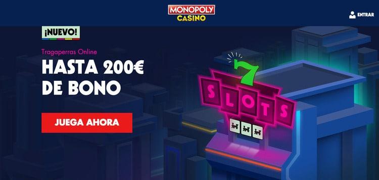 Oferta de bienvenida para tragaperras online de Monopoly Casino
