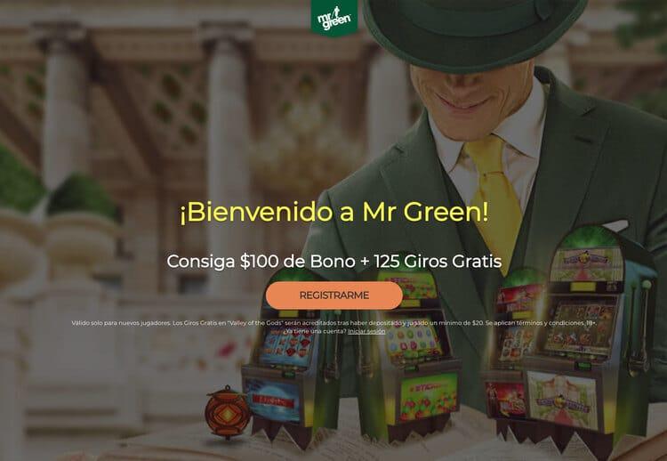 Bono de bienvenida Casino Mr Green para latinos